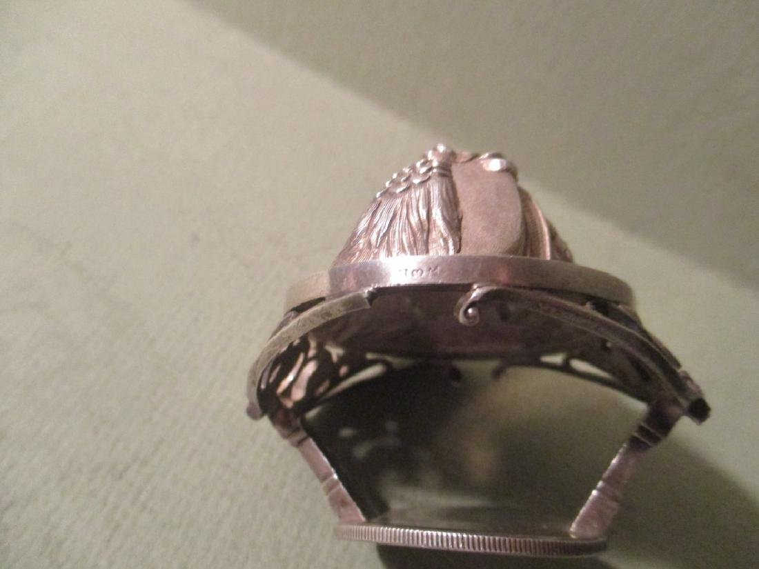 Rare Pair of Sterling Portrait Napkin Rings - 3