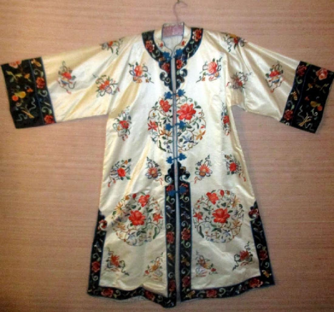 Japanese Silk Embroidered Long Jacket