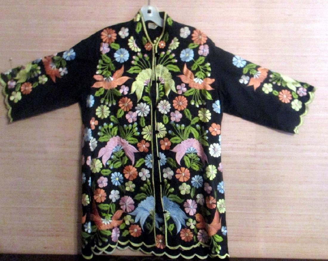 Embroidered Silk Oriental Jacket