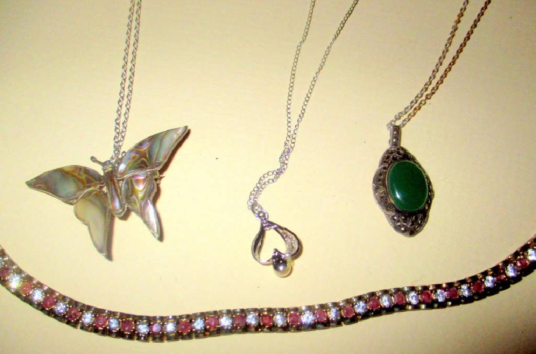 4 Piece Lot of Sterling Silver Jewelry