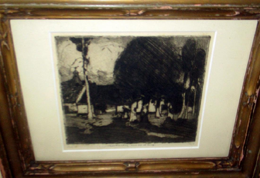 Etching of a Humble Home by W. Lee Hankey