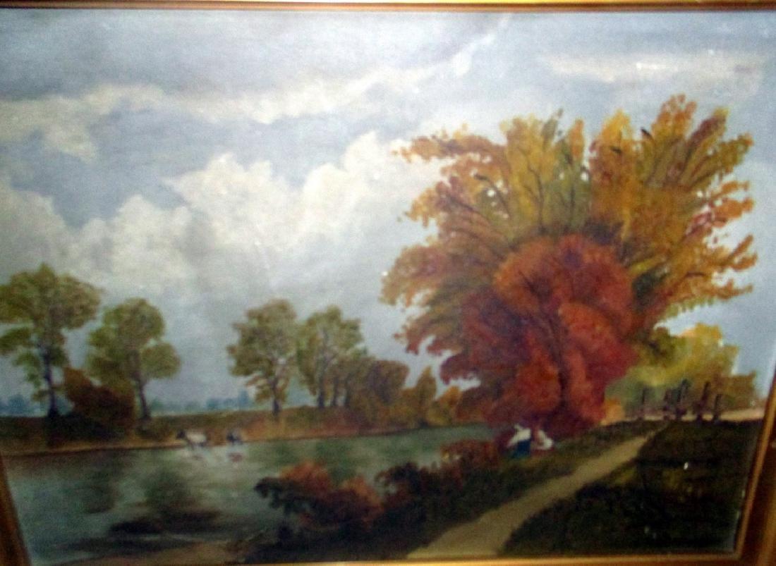Primitive Landscape Painting