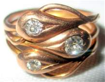 Victorian Rose Gold Ring with Diamond