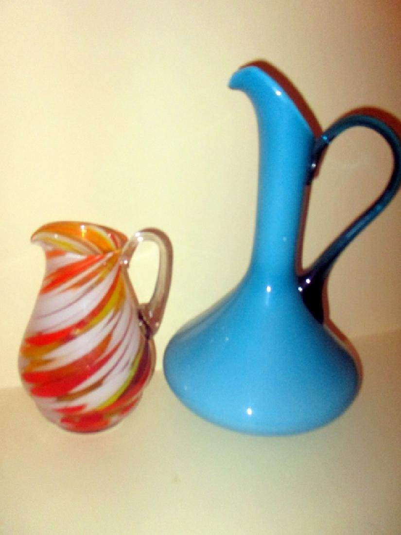 Two Piece of Mid Century Glass