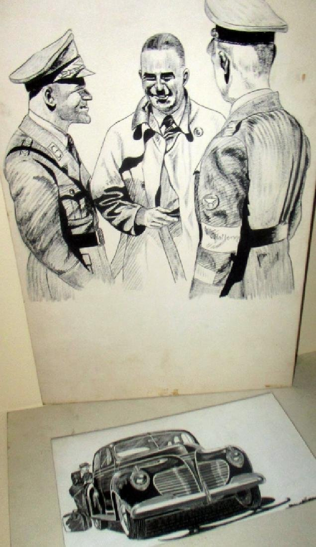 Two 1940s Illustrations Signed Peter Christopher