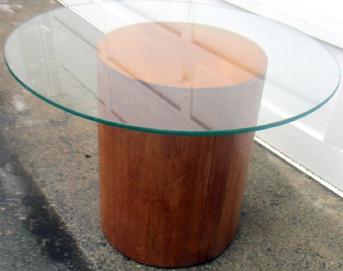 Mid Century Plycraft End Table with Glass Top