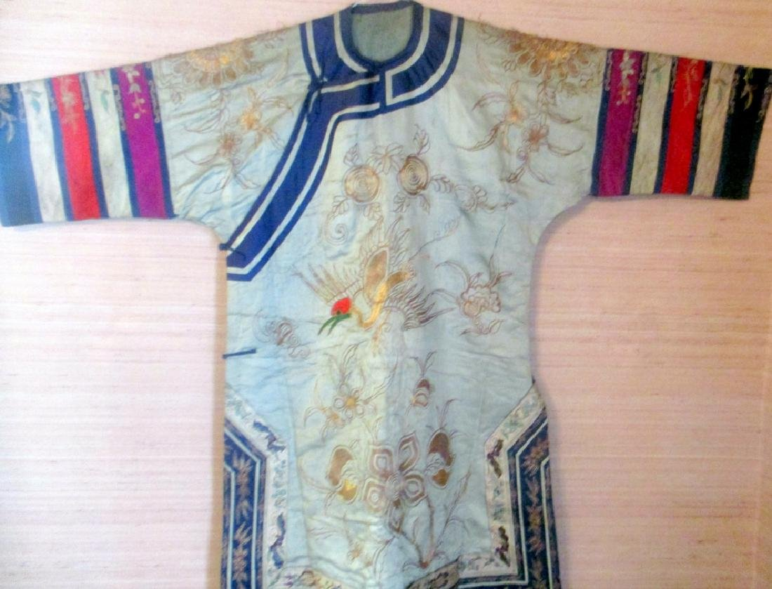 Antique Oriental Embroidered Silk Jacket