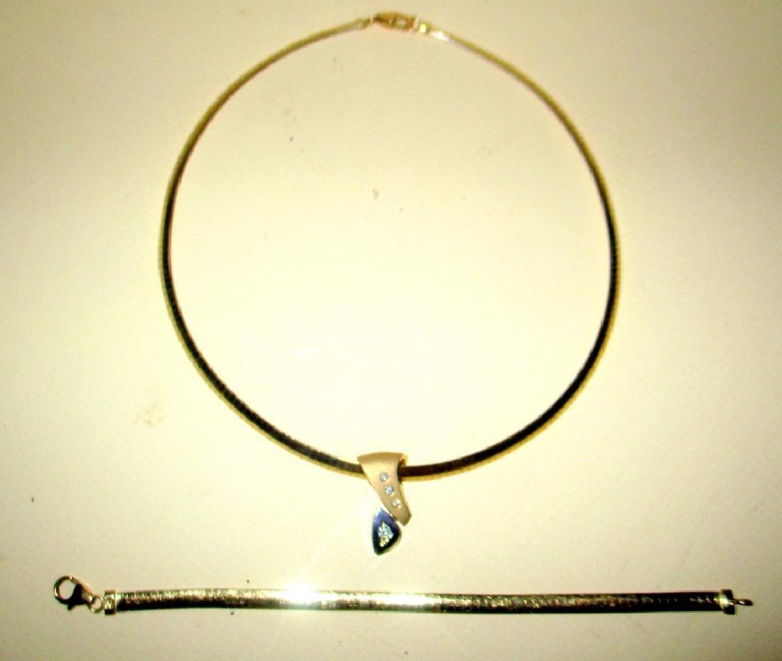 14K Gold Necklace & Bracelet Set