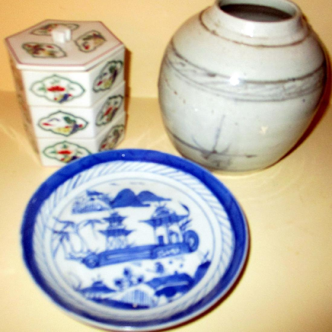 Three Pieces of Oriental Porcelain