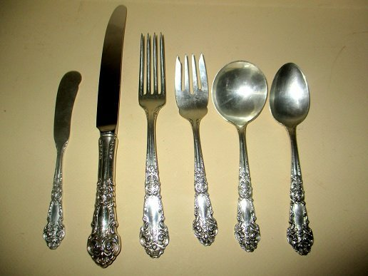 Sterling Silver Flatware for 12, French Renaissance - 2