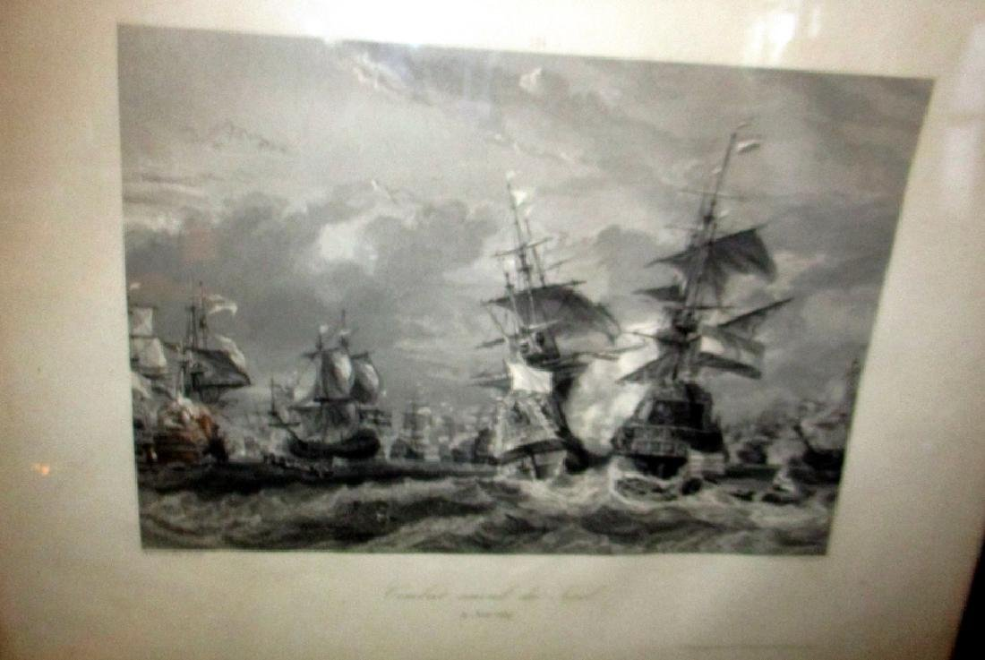 19th / 20th Century Engraving of Naval Battle