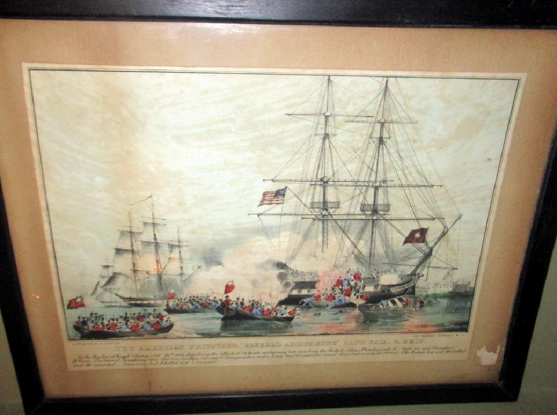 """N. Currier Litho of Battle of """"General Armstrong"""""""