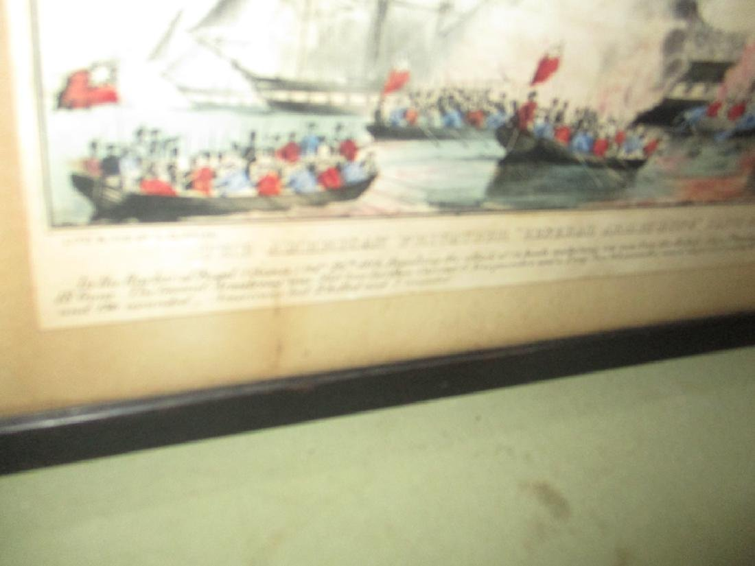 "N. Currier Litho of Battle of ""General Armstrong"" - 2"