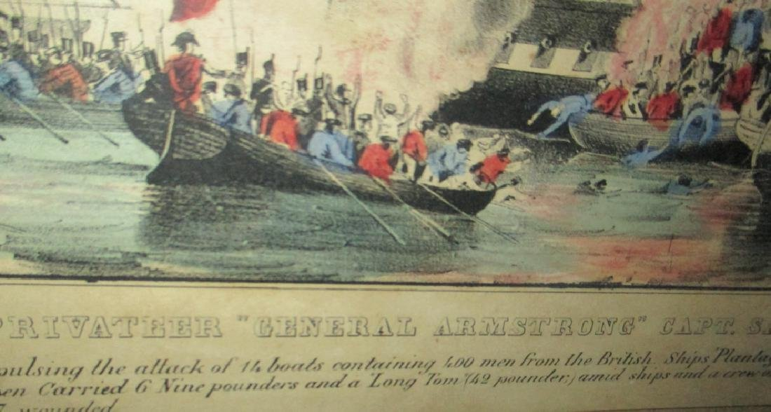 "N. Currier Litho of Battle of ""General Armstrong"" - 3"