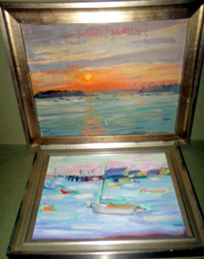 Two Marine Scene Oil Paintings on Board