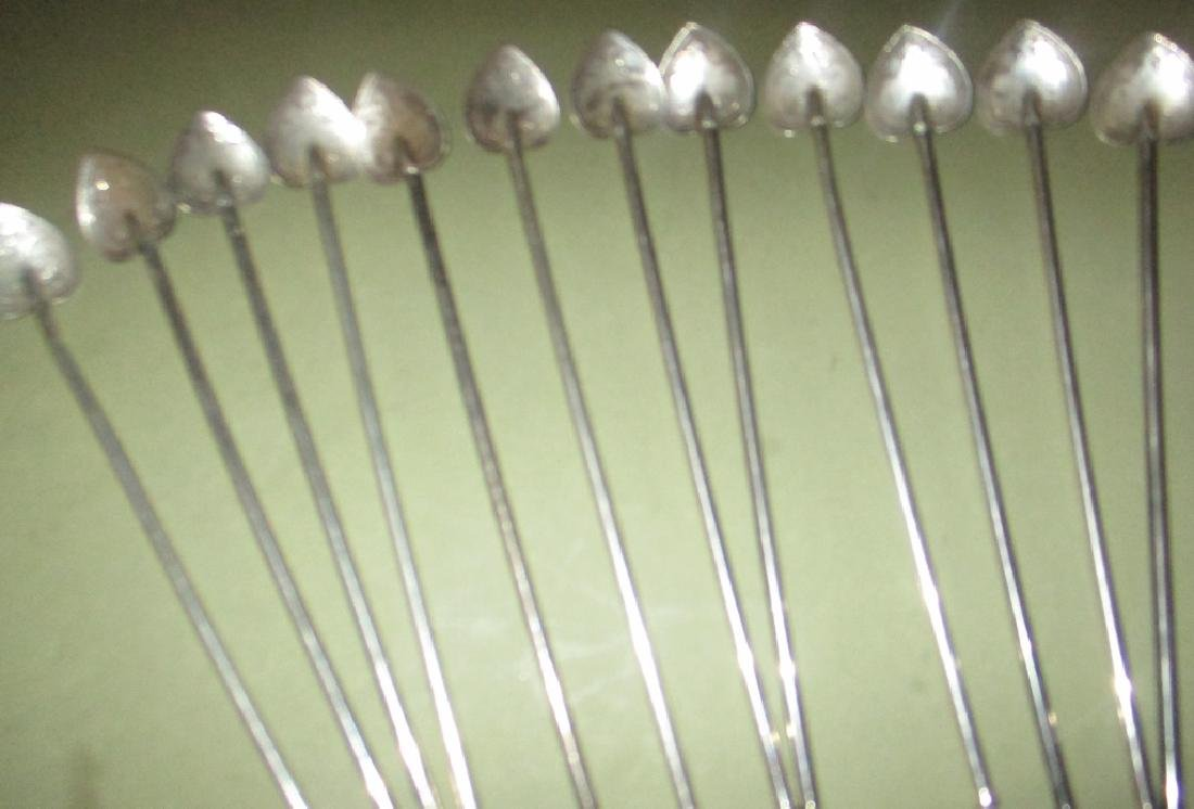 Set of Twelve Sterling Ice Tea Sipper Spoons