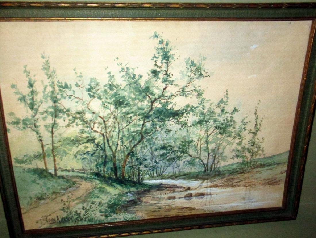 Watercolor of Landscape Signed