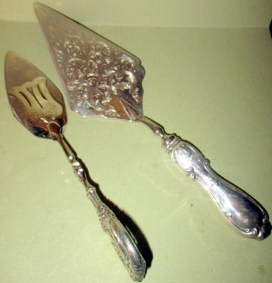 Lot of Two Sterling Handle Serving Utensils