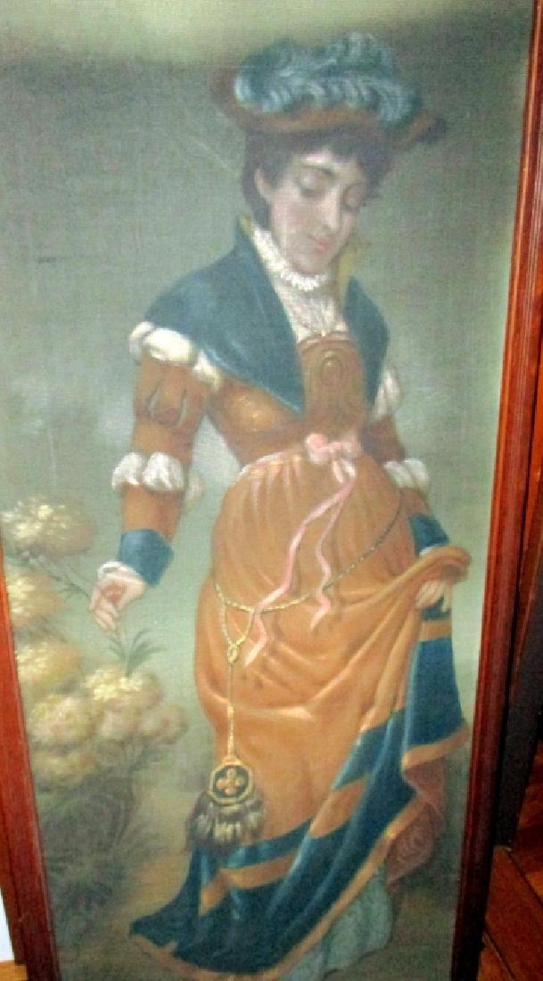 19th Century Painting on Fabric