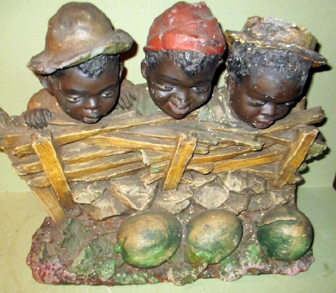 Antique African-American Chalkware Sculpture - 4