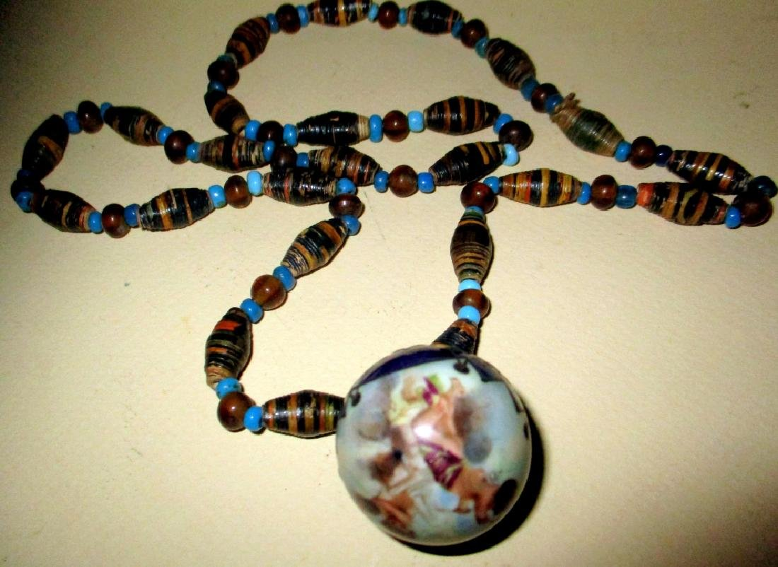 Victorian Bead Necklace w/ Pendant