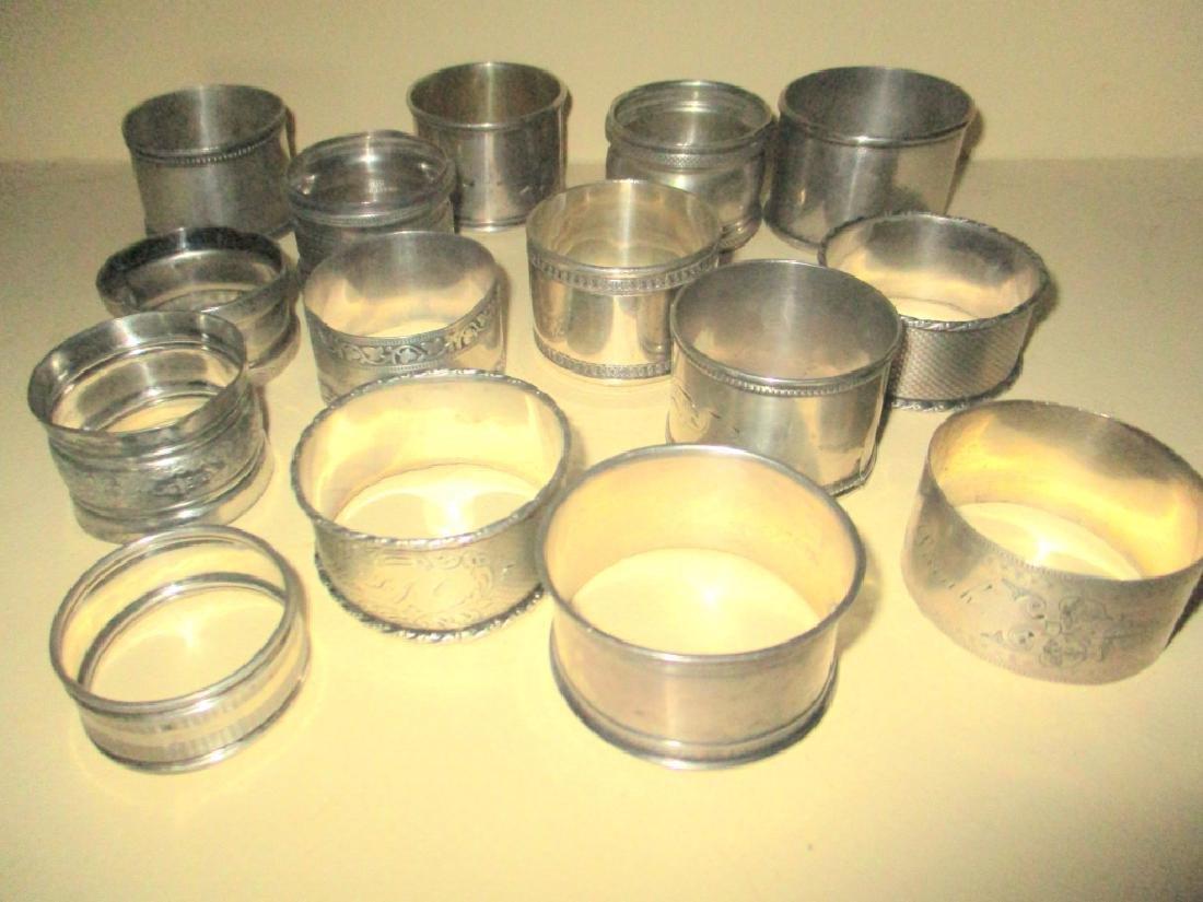 Fifteen Victorian Napkin Rings