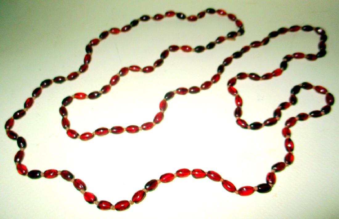 Victorian Garnet Bead Necklace