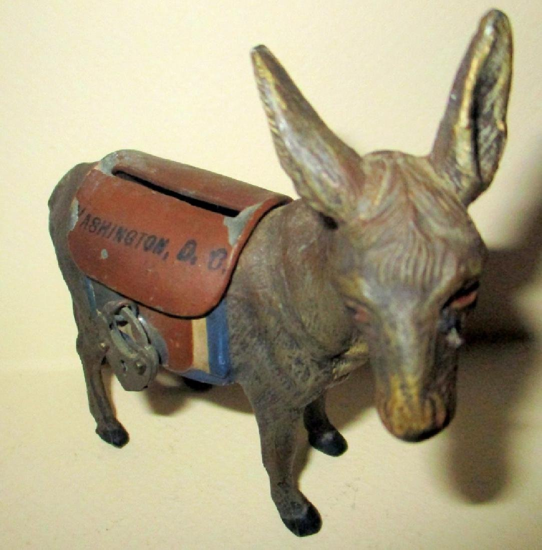 19th Century Democratic Donkey Penny Bank