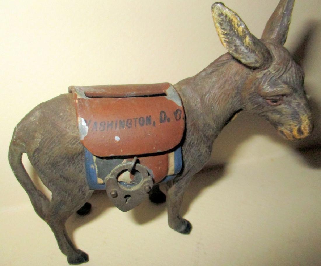 19th Century Democratic Donkey Penny Bank - 2