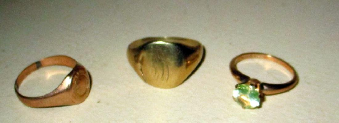 Three 10K Gold RIngs