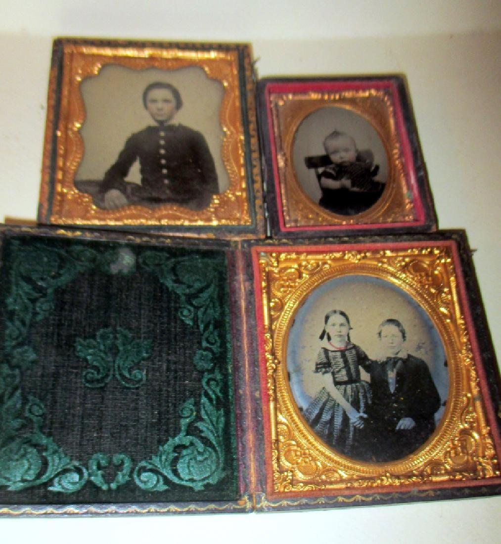 Three Ambrotypes of Young Children