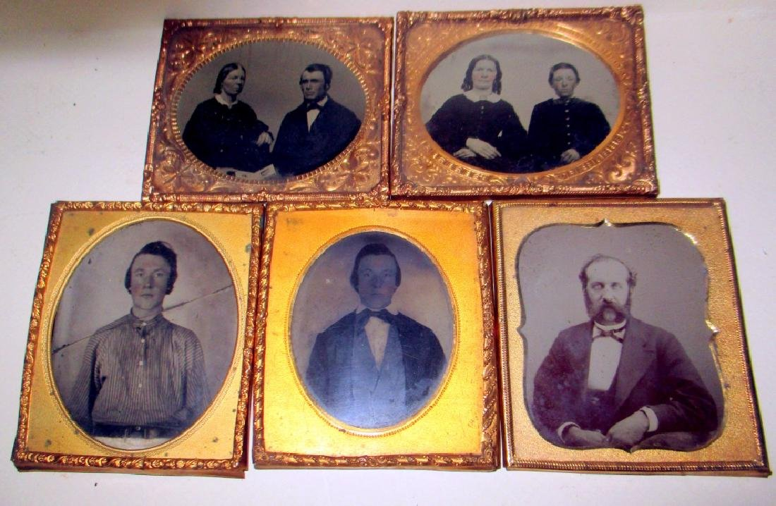 Lot of Five Victorian Ambrotypes