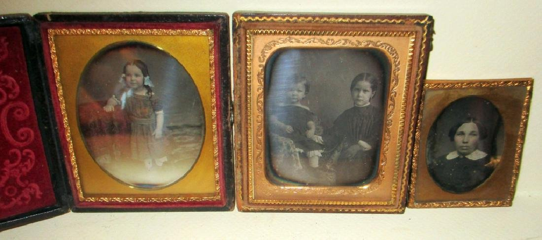 Lot of Three 19th C. Daguerreotypes