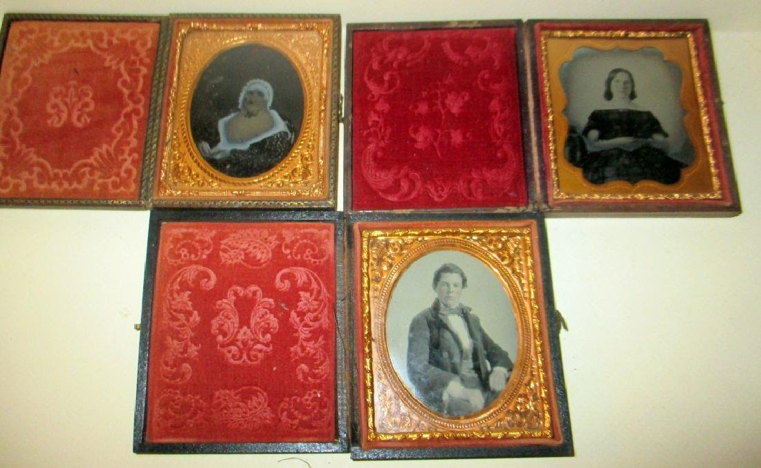 Three Ambrotypes of Victorian People