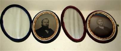Two Victorian Photos Daguerreotype & Ambrotype