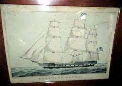 N Currier Lithograph of an American Ship