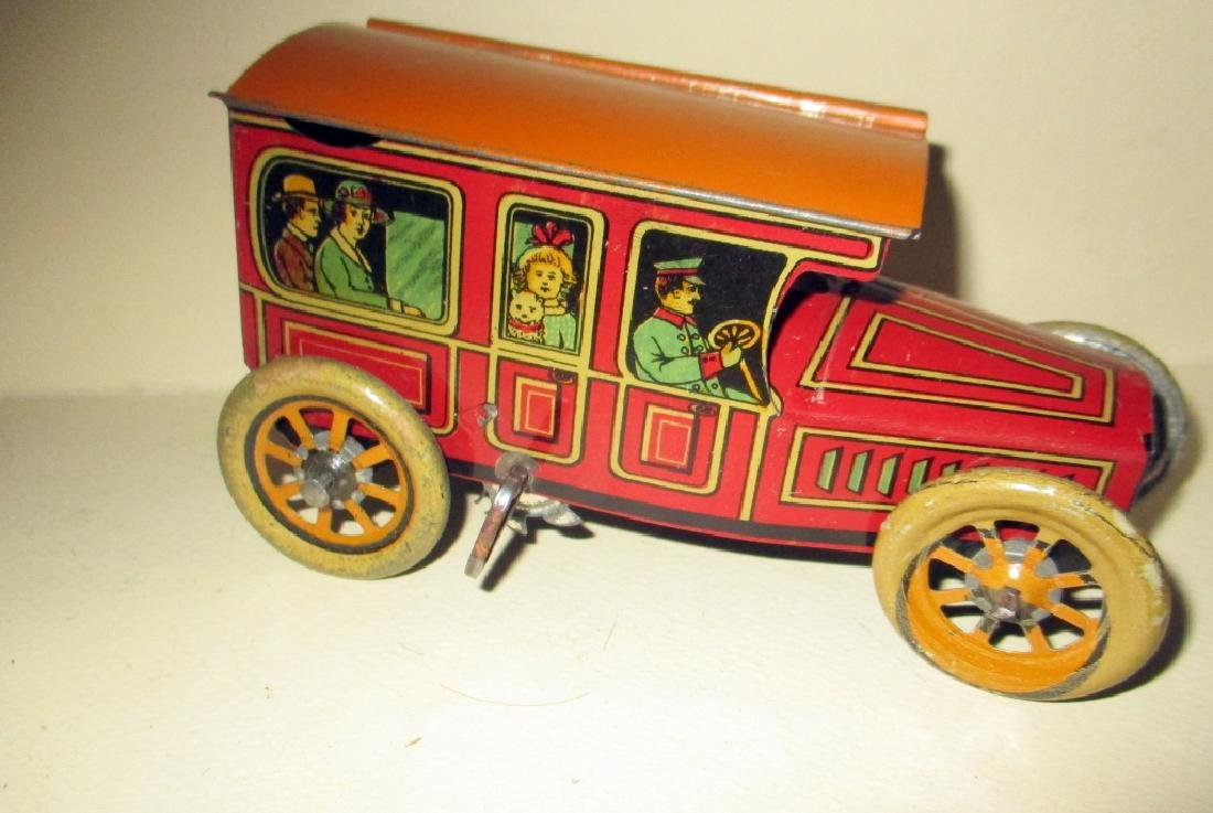 1918 Tin Wind-up Toy Bus #314