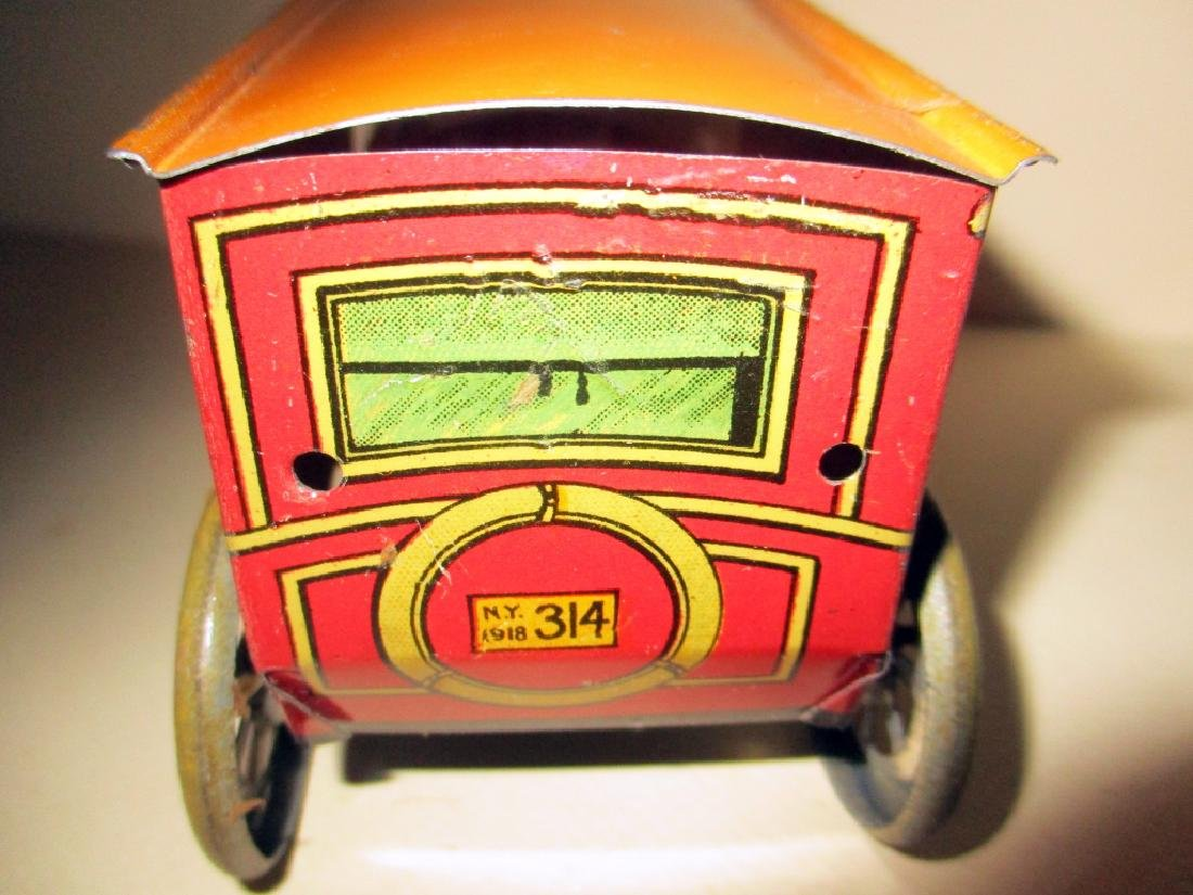 1918 Tin Wind-up Toy Bus #314 - 2