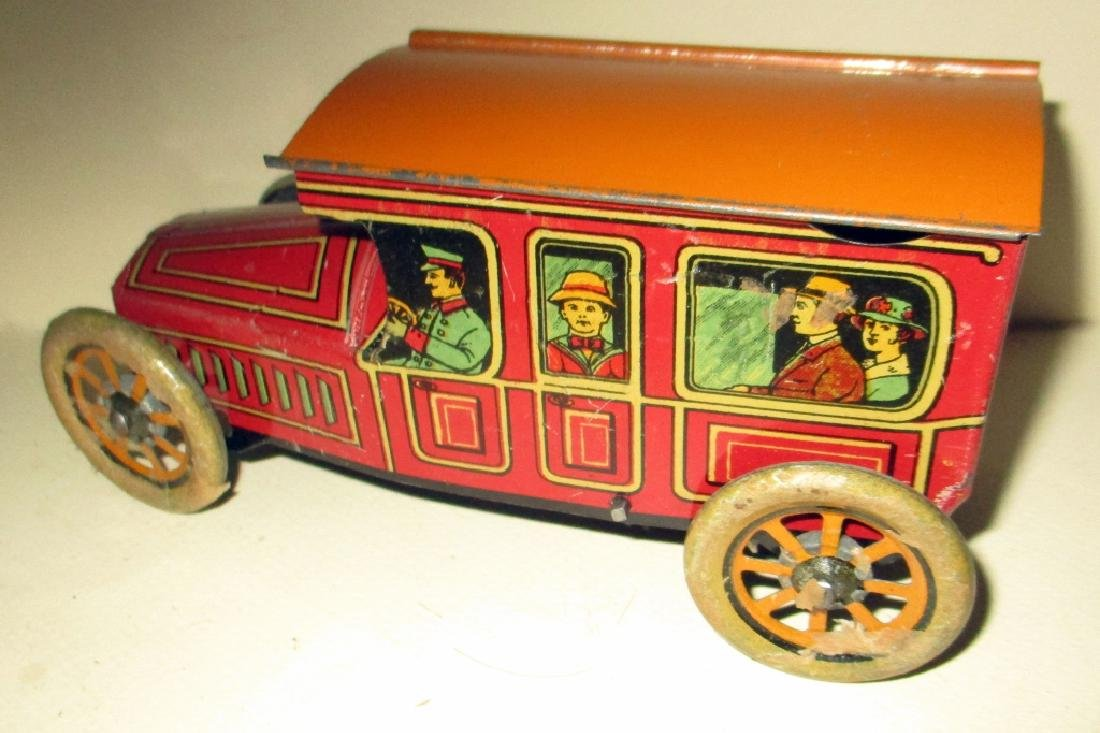 1918 Tin Wind-up Toy Bus #314 - 3