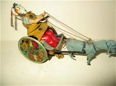 German Lehmann Marke Kicking Donkey Clown Tin Toy