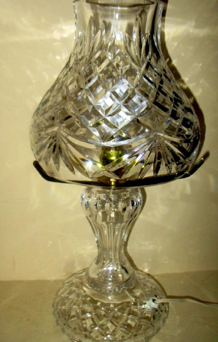 Signed Waterford Crystal Lamp