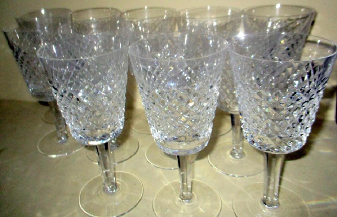 Set of Twelve Signed Waterford Goblets