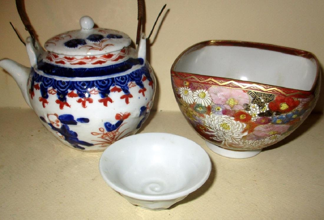 Three Pieces of Japanese Porcelain