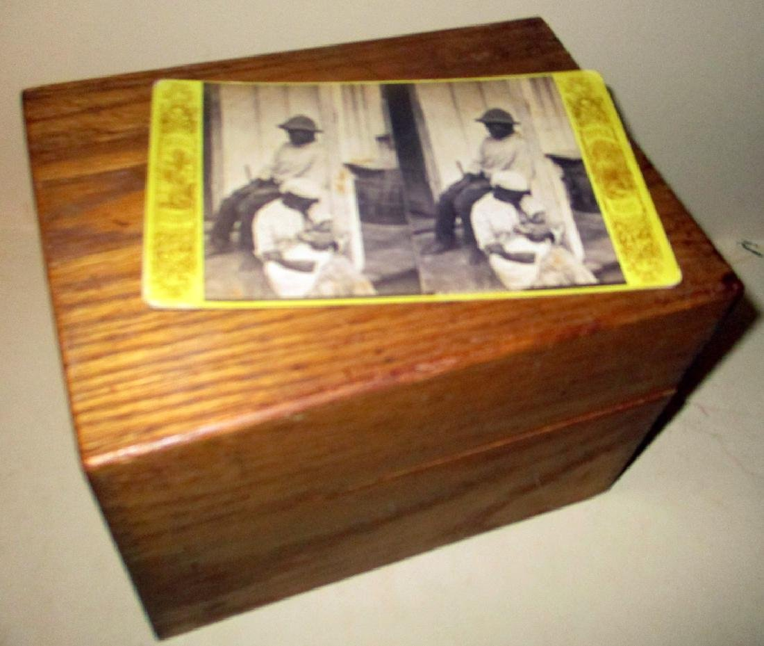 Small Oak Box with Stereoptic Card Views
