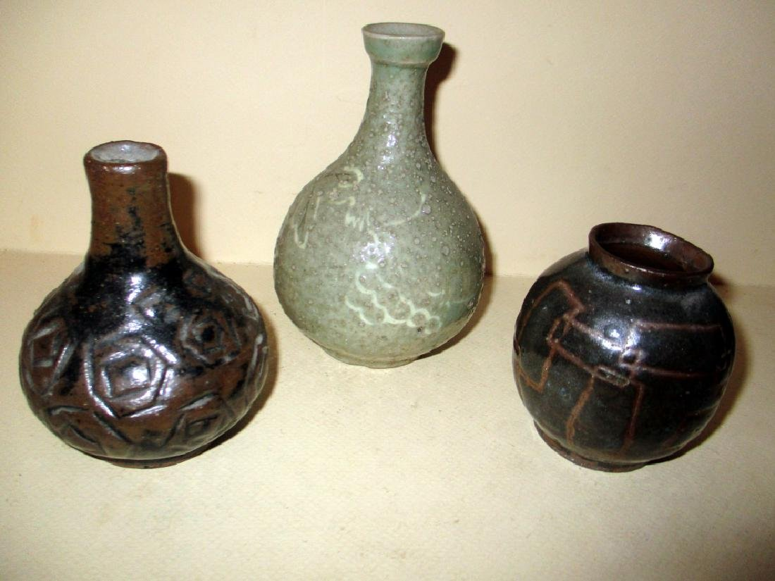 Three Pieces of Japanese Studio Pottery