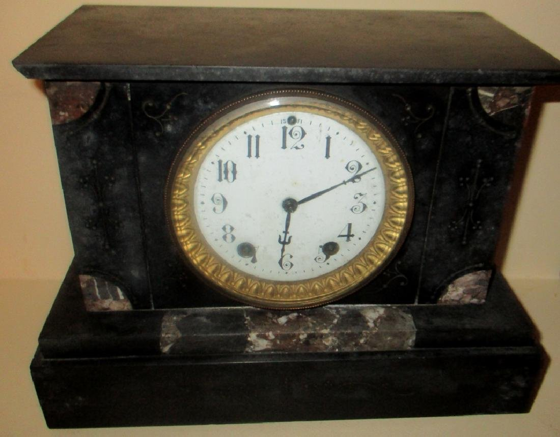 French Marble Mantel Clock - 2