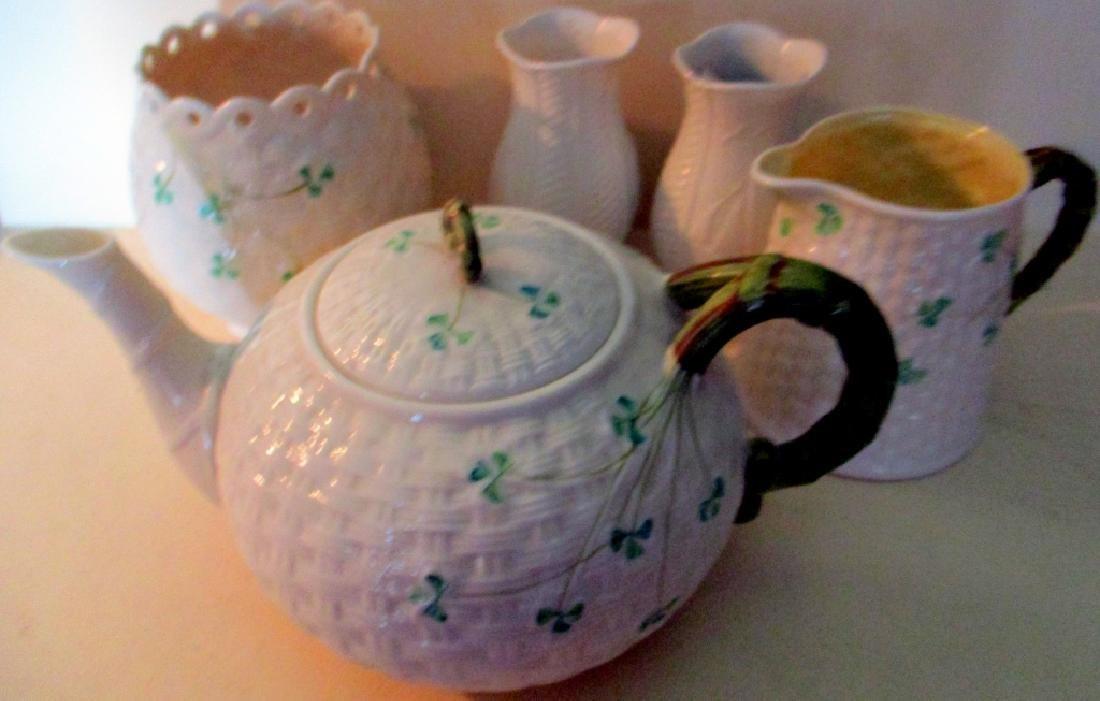 Five Pieces of Belleek Porcelain
