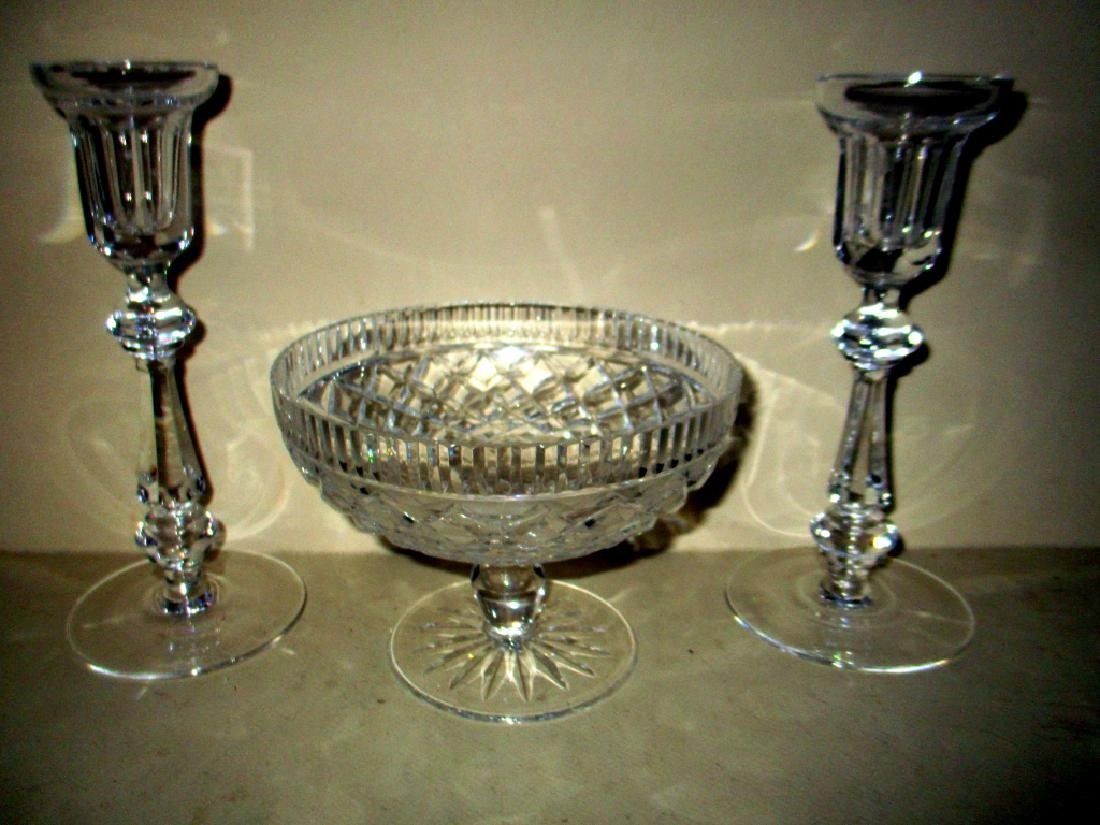Signed Lot of Three Waterford Crystal Pieces