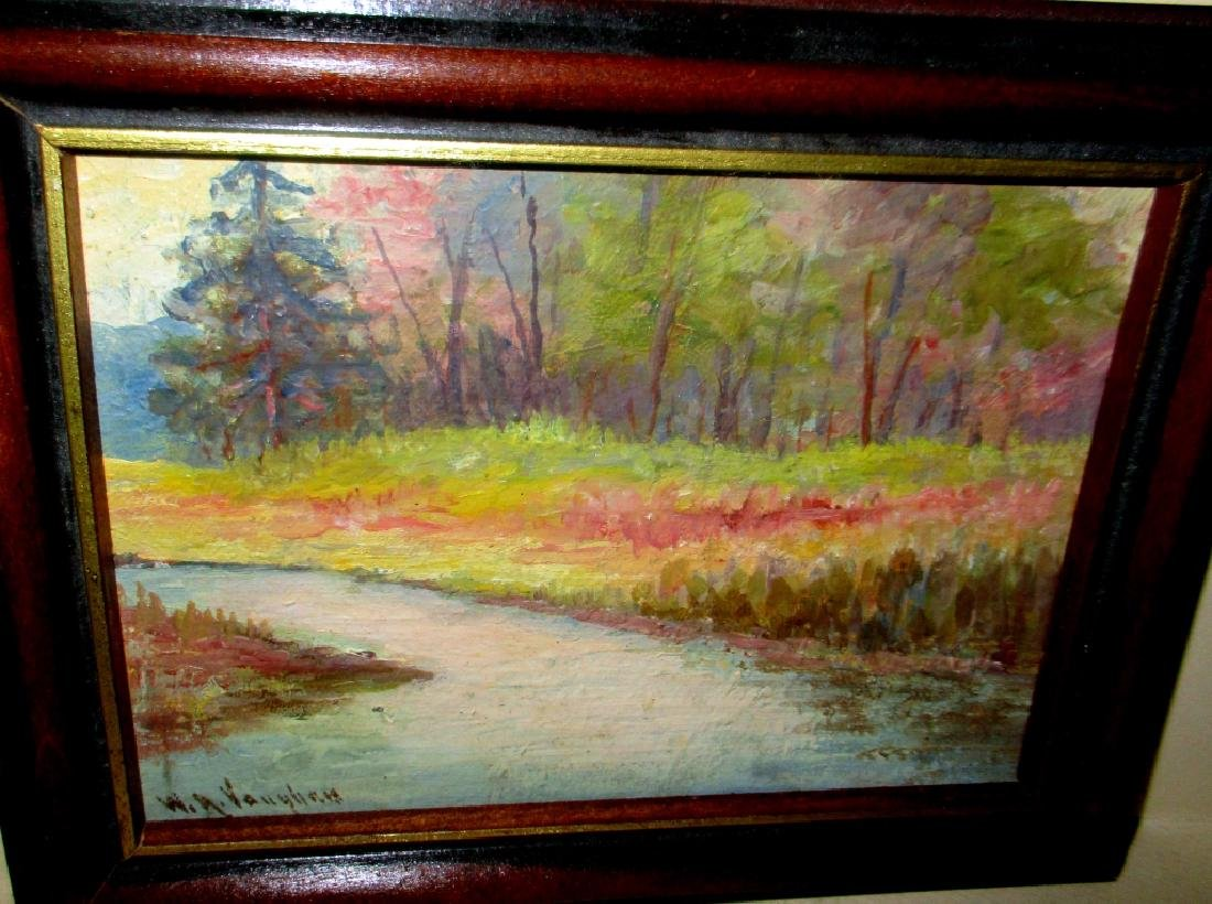 Small Impressionist Painting Signed W A Vaughan