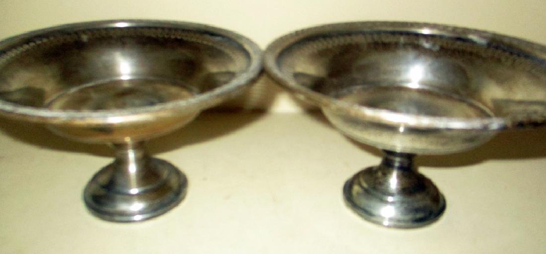Two Sterling Candy Compotes